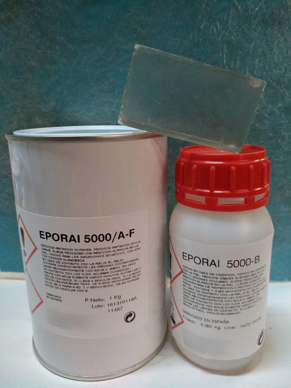☑︎ Resina Epoxi Eporai 5000A 1kg + 5000B 160grs