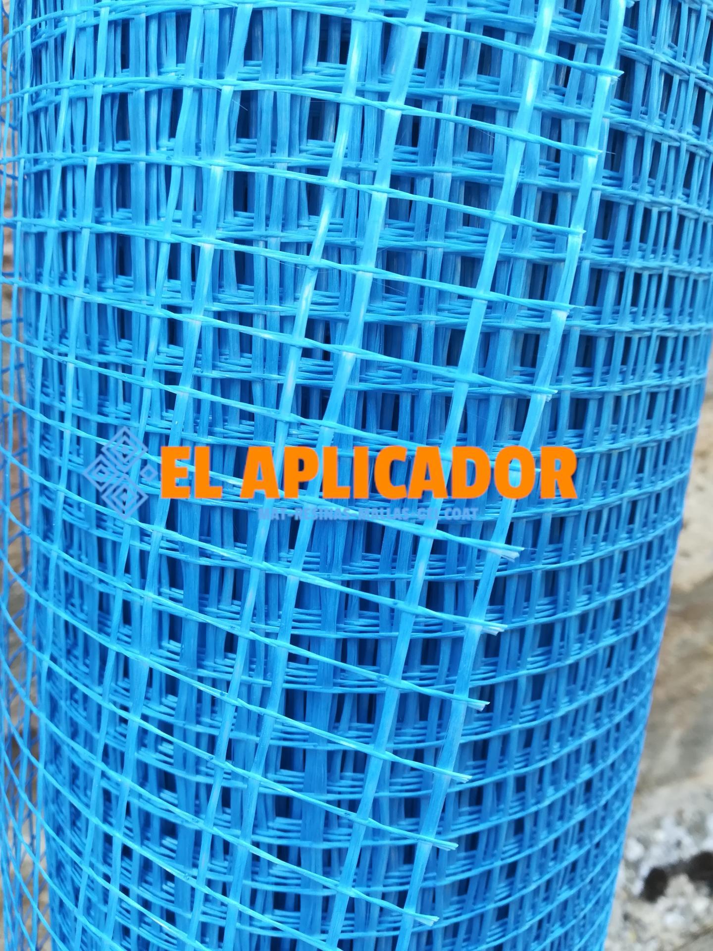 ▷ Malla de Fibra de Vidrio  Azul Mortero 90gr. Rollo de  1 x 50m