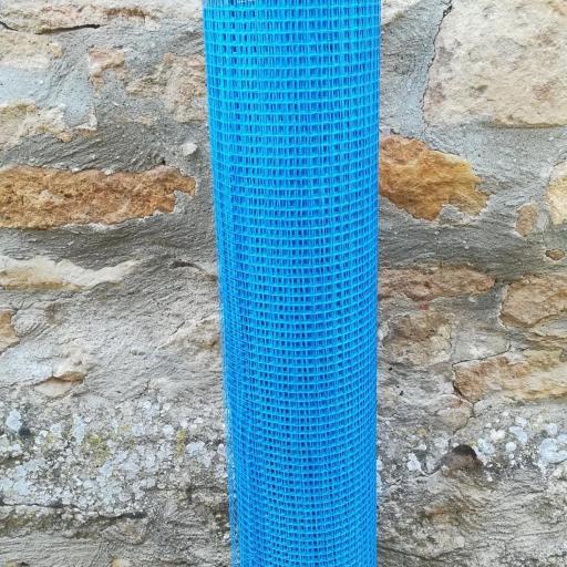 ▷ Malla de Fibra de Vidrio  Azul Mortero 90gr. Rollo de  1 x 50m  [2]