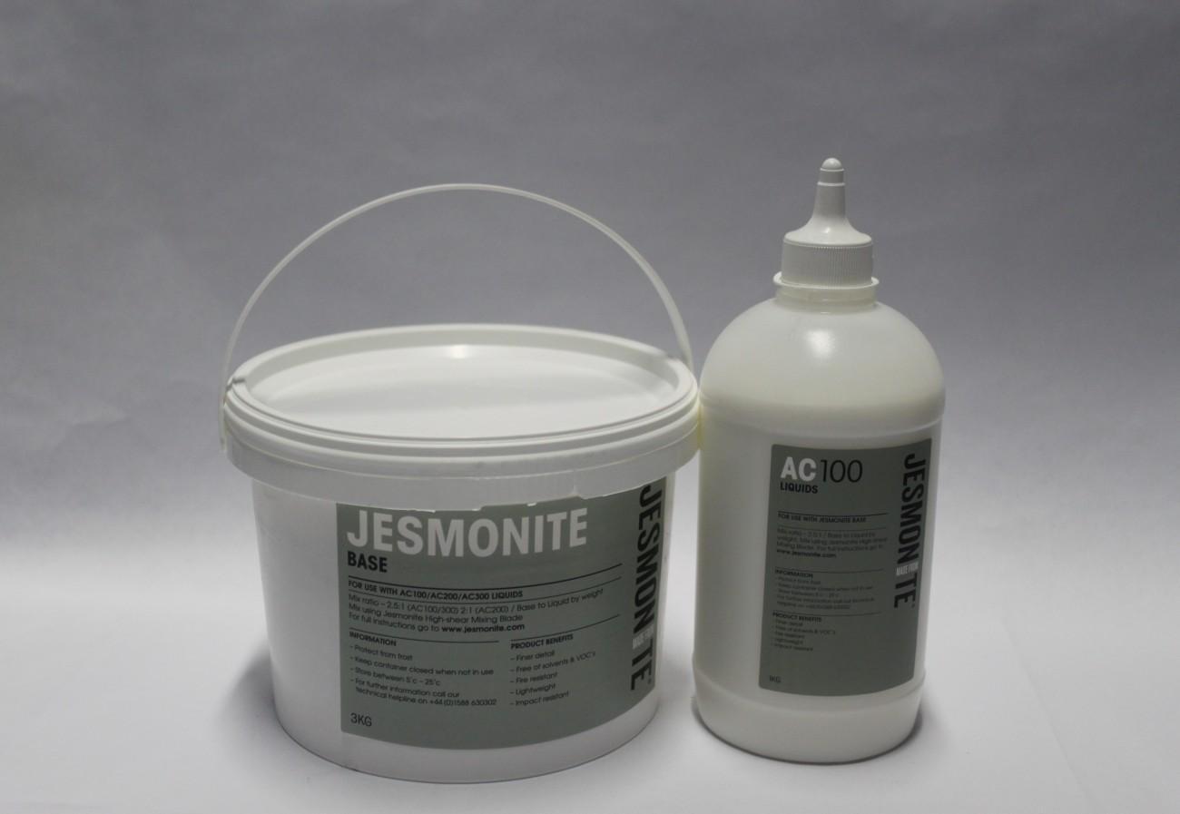 ⇧ Jesmonite Kit 1 litro + 2,5kg Polvo AC100 para reforzar Fibra de Vidrio