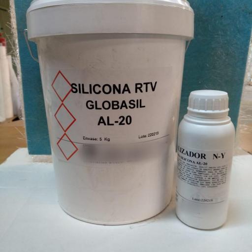 ⇧ Silicona RTV AL20 20kg + Cat