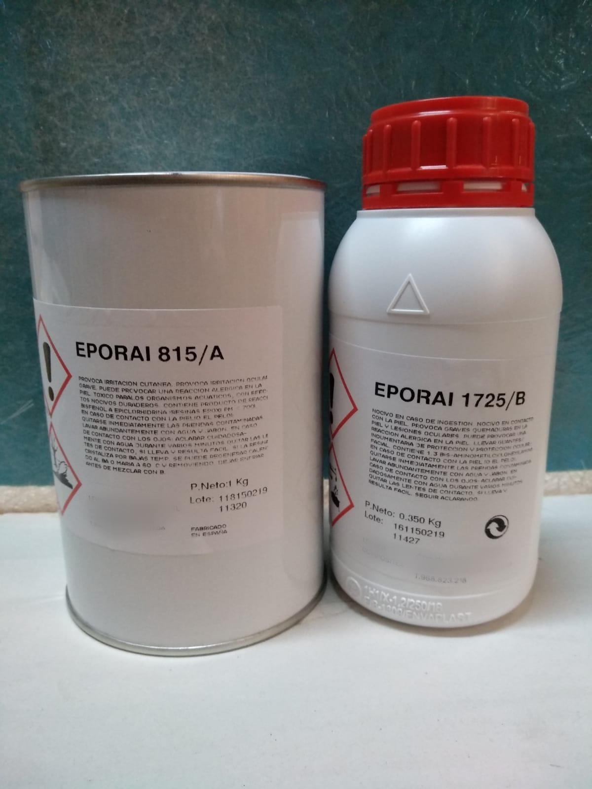 ☑︎ Resina Epoxi Eporai 815A 1kg  + 1725B 350gr
