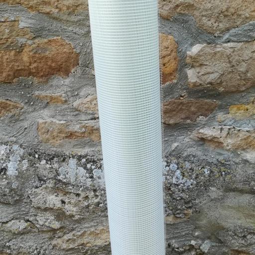 ☑︎ Malla de Fibra de Vidrio Yeso Revocos V75. Rollo de 1 x 50m  [2]