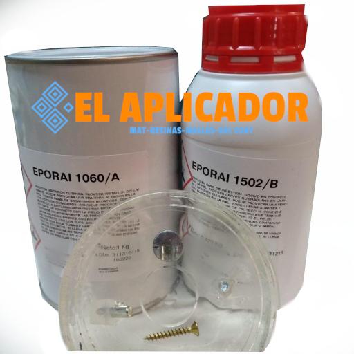 ☑︎ Resina Epoxi Eporai 1060A 1kg 1502B 420gr