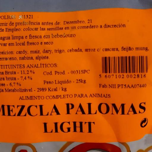 Mezcla PALOMAS LIGHT Pet Cup  Saco 25 kg [2]