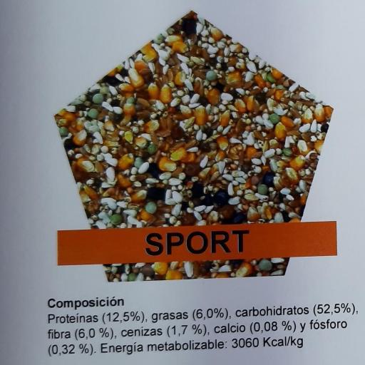 Mezcla PALOMAS SPORT Pet Cup  Saco 25 kg [1]