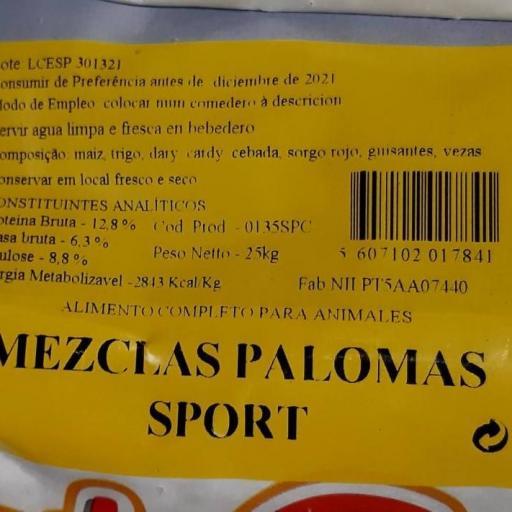 Mezcla PALOMAS SPORT Pet Cup  Saco 25 kg [2]