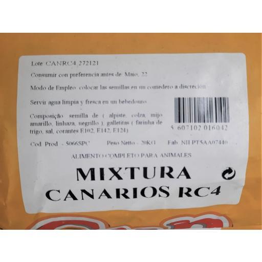 Pet -Cup MIXTURA CANARIOS profesional. Saco 20Kg. [2]