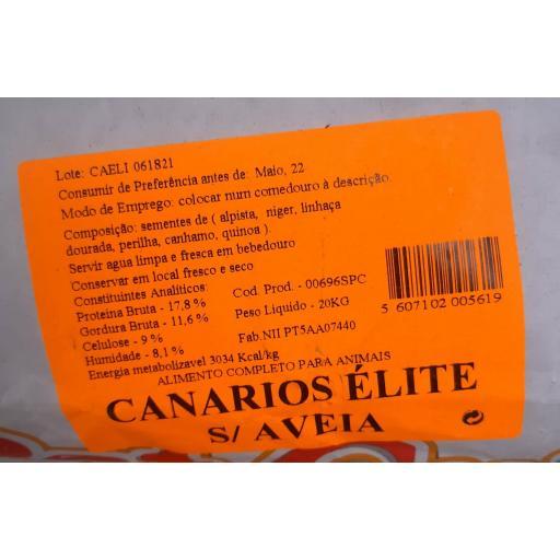 Pet -Cup Mixtura CANARIOS ELITE SIN AVENA. Saco 20Kg. [2]