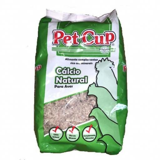 Calcio MINERAL para AVES Pet Cup 5 Kg.