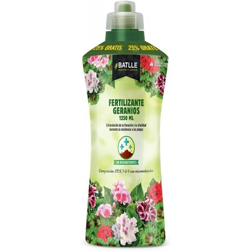 Fertilizante GERANIOS 1250 ml- Batlle