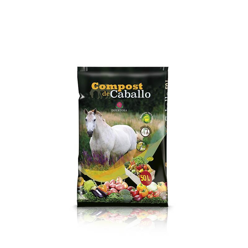 Sustrato Fertilizante Compost de CABALLO 50L