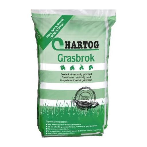 FORRAJE (HIERBA) en pellets CABALLOS Grasbrok . Saco de 20Kg.  Hartog