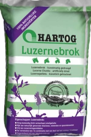FORRAJE (ALFALFA) en pellets CABALLOS Lucernebrock . Saco de 20Kg.  Hartog