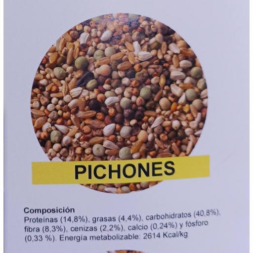 Mezcla PICHONES Pet Cup  Saco 25 kg [1]