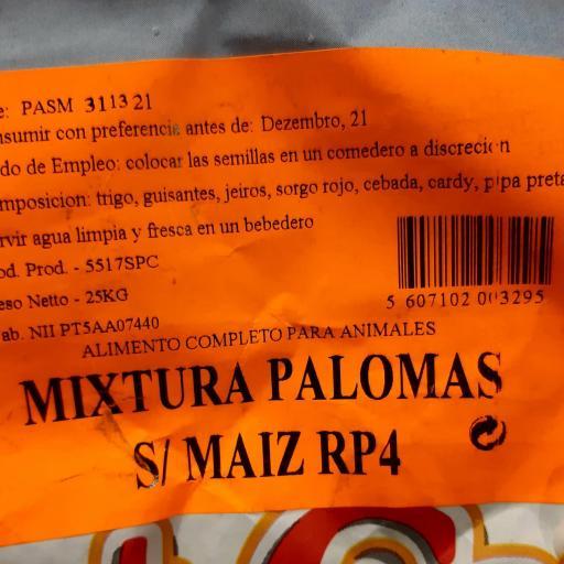 Mezcla PALOMAS SIN MAIZ RP4. Pet Cup  Saco 25 kg [2]