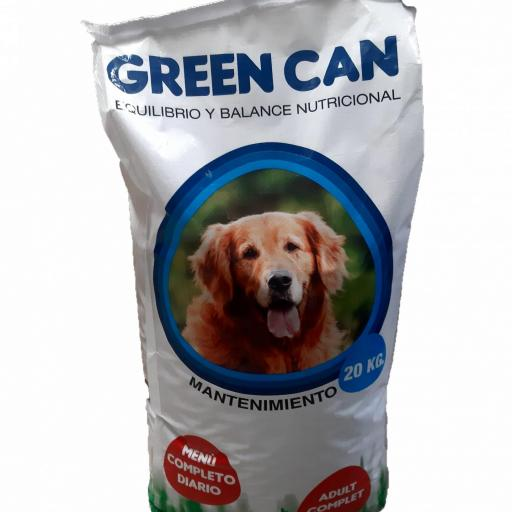 Pienso GREEN CAN Perro ADULTO MANTENIMIENTO. Saco 20 KG