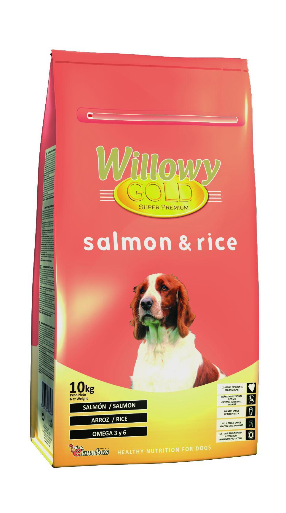 Willowy Gold SALMÓN y arroz
