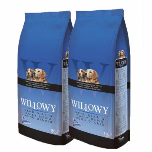 PACK DE 2 Sacos DE 20 kg  de Willowy Menú DIARIO con 2% de DTO