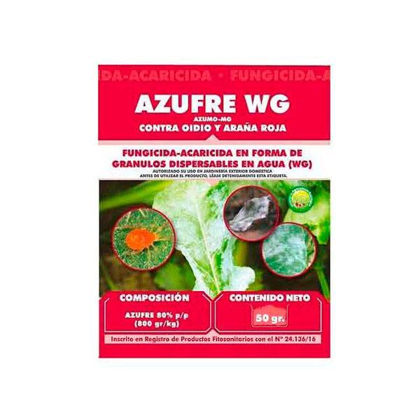 Fungicida - Acaricida AZUFRE WG JED  Masso. 50gr.