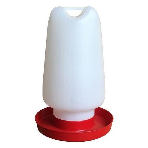 Bebedero de Plástico para Aves de Corral, Gallinas y Otros Pájaros - 2.5 L