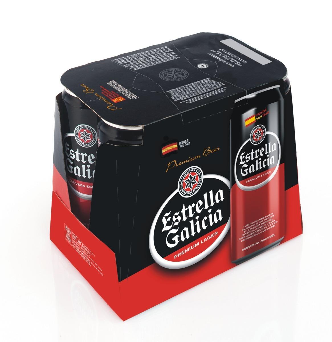 Cerveza Especial  Estrella Galicia. PACK 6 Latas 33cl
