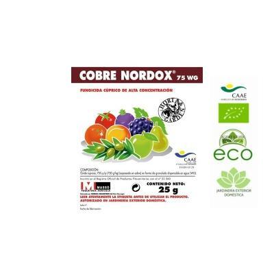 Fungicida COBRE NORDOX 75 WG. Masso. 25 gr