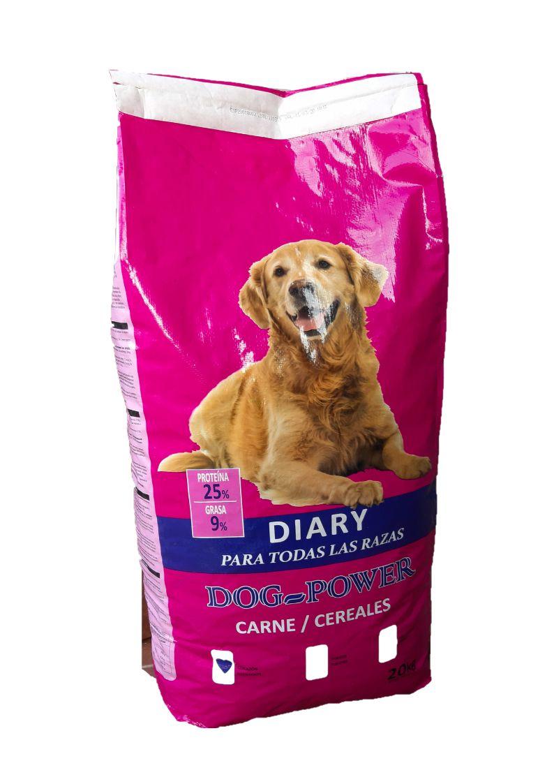 Pienso Perros Dog-Power DIARY. Saco 20 Kg.