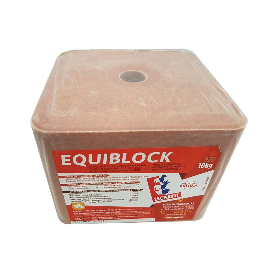 Bloque Mineral-Piedra de Sal EQUIBLOCK Equino. 10 Kg