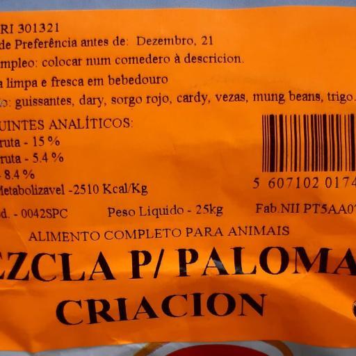 Mezcla PALOMAS CRIA. Pet Cup  Saco 25 kg [2]