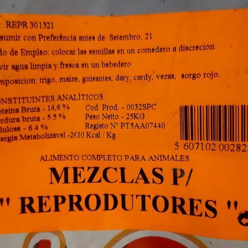Mezcla PALOMAS REPRODUCTORAS Pet Cup  Saco 25 kg [2]