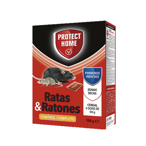 Raticida PROTECT HOME RADICUM Cereal . Caja 150 gr.