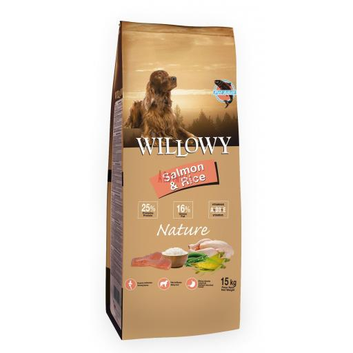 Willowy NATURE Adult Salmón & Arroz. Saco 15 Kg.