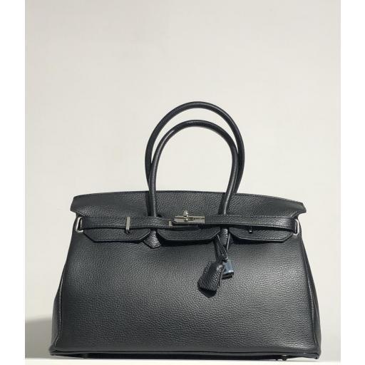 handbag candado negro