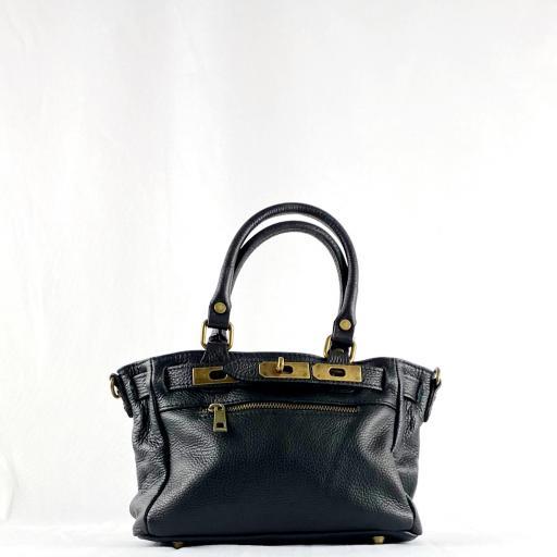 Handbag cremallera negro mini [1]