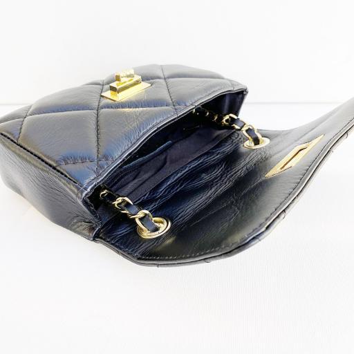 Bolso mini 19 acolchado negro [3]