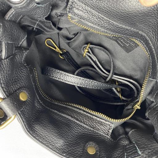 Handbag cremallera negro [3]