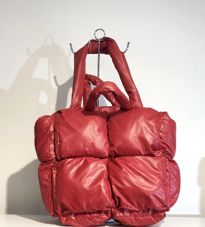 Bolso acolchado Shopper rojo