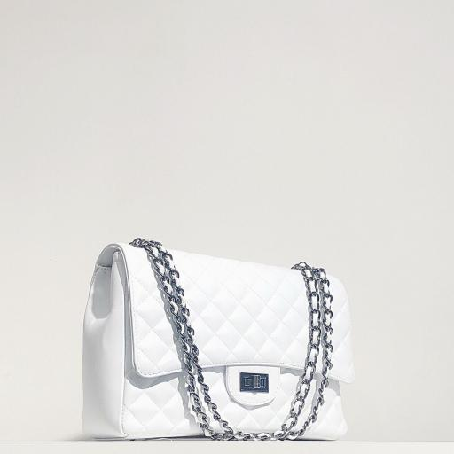 Bolso acolchado Maxi clasic blanco [1]