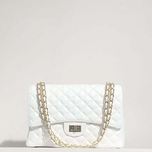 Bolso acolchado Maxi clasic blanco
