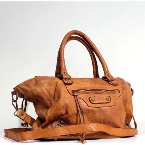 Bandolera estilo city midi marrón  [2]