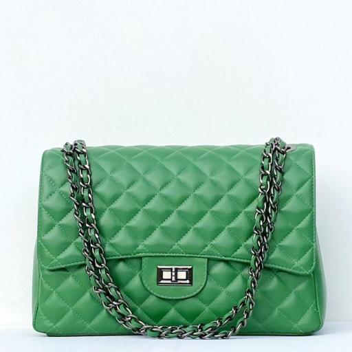 Bolso acolch Maxi verde cad platino