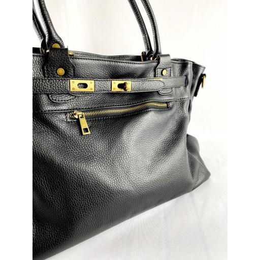 Handbag cremallera negro [2]