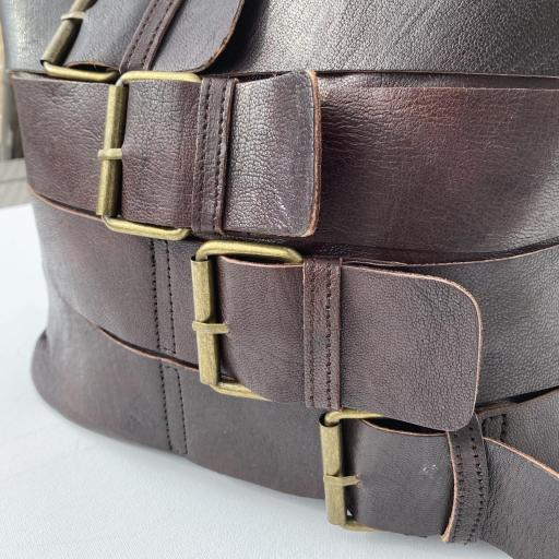Bolso hebillas marrón oscuro [1]