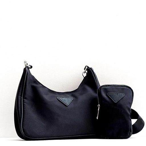 Bandolera  estilo Milán nylon negro [3]