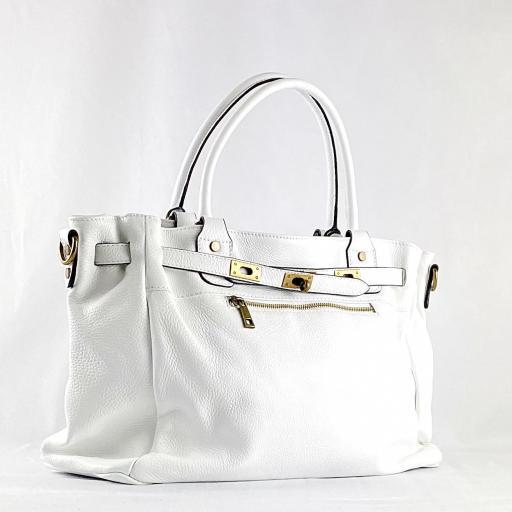 Handbag cremallera blanco [0]