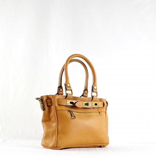 Handbag cremallera camel mini [1]