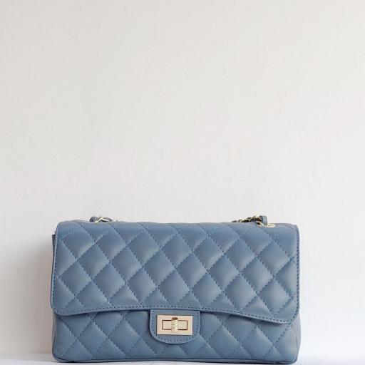 Bolso acolchado clasic azul mar