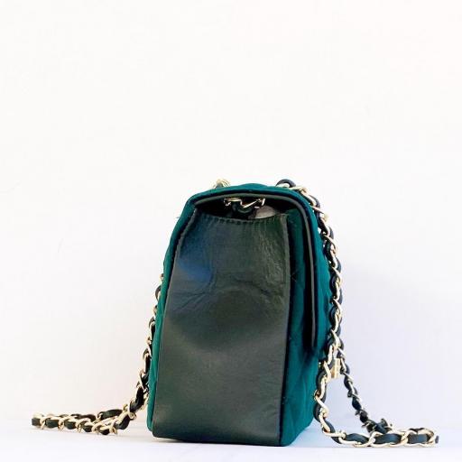 Bolso acolch terciopelo verde [1]