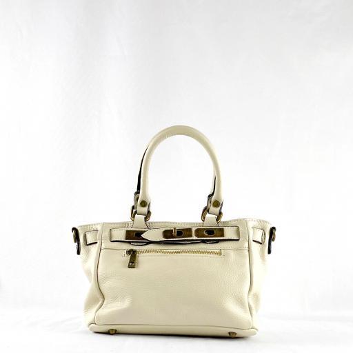 Handbag cremallera beigge mini [2]